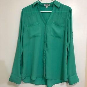 Express Green Portofino Shirt sz M